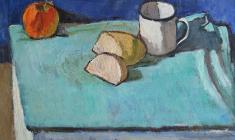 Gevork Kotyantz. Still-life. Oil on canvas, 50х51. 1971