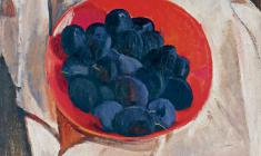 Gevork Kotyantz. Still-life. Plums. Oil on canvas, 36,5х40. 1974