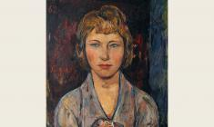 Yaroslav Krestovsky. Rose. Portrait of Wife.  Oil on canvas, 65х55. 1962