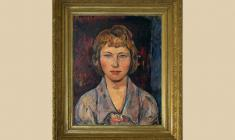 Yaroslav Кrestovsky (1925 - 2003). Rose. Portrait of wife. Oil on canvas, 65х55.1962. Price on request