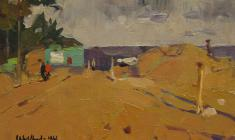 Ivan Lavsky. Dunes. Oil on cardboard,12,5х17,5. 1961