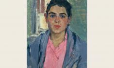 Valeria Larina. Fisherman`s Wife from the Trubezh River.  Oil on cardboard, 54х39. 1960