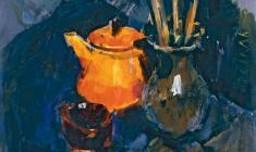 Valeria Larina. Still-life.  Oil on canvas, 70х55. 1965