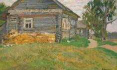 Dmitry Maevsky. Country Theme. Oil on canvas, 32х48. 1970