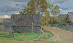 Dmitry Maevsky. Evening in Podol Village. Oil on canvas, 45х60. 1971