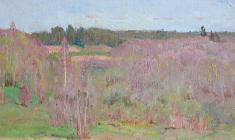 Dmitry Maevsky. Мay Day. Oil on cardboard, 17,5х24,3. 1977