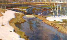 Dmitry Maevsky. Spring Waters. Oil on canvas, 53,5х66,5. 1963