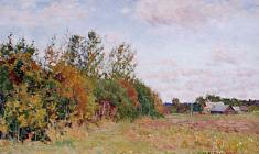 Dmitry Maevsky. Begining of the Autumn. Oil on canvas, 25х35. 1986