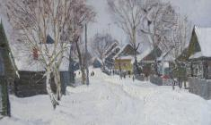Dmitry Maevsky. Worm Winter. Oil on canvas, 50х60. 1970