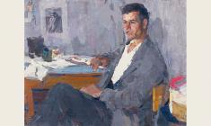 Peter Nazarov. Young Worker. Oil on canvas, 61х80. 1965