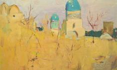 Alexander Naumov. Shakh-Izinda. Oil on cardboard, 47,5х57,5. 1967