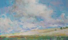 Самуил Невельштейн. Облака плывут. Х.м.,25,5х31. 1936