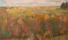 Samuil Nevelstein. Autumn at the Academic Dacha. Oil on canvas, 46х58. 1946