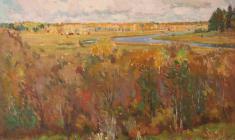 Самуил Невельштейн. Осень на Академической даче. Х.м.,46х58. 1946