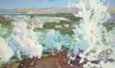 Vladimir Ovchinnikov. Spring. Oil on canvas, 99х206. 1956