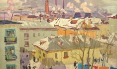Vladimir Ovchinnikov. Ulyanovsk. Oil on canvas, 60х80. 1963