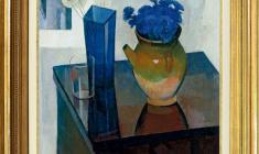 Sergei Osipov (1915 - 1985). Cornflowers. Oil on canvas, 70х60. 1976. Price on request