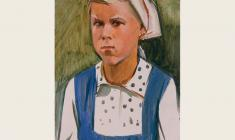 Sergei Osipov.  Angry Girl. Oil on cardboard, 48х33. 1966