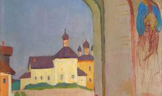 Sergei Osipov.  In ancient Pskov. Oil on canvas, 73х51. 1968