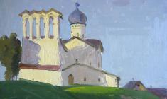 Sergei Osipov.  Sunny Day. Oil on cardboard, 35х47. 1960