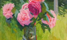 Sergei Osipov. Roses. Oil on cardboard, 50х35. 1962