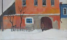 Sergei Osipov. Staritsa. The Rose House. Oil on canvas, 70,5х51,5. 1977