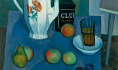 Sergei Osipov.  Still-life with a White Kettle. Oil on canvas, 70х60. 1972