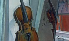 Sergei Osipov.  Still-life with a Violin. Oil on canvas, 70х60. 1960