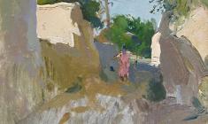 Victor Otiev. Old Samarkand. К Oil on cardboard,31,2х24. 1959
