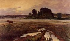 Eugeny Pozdnyakov. Pskov Land. Oil on canvas, 65х110. 1959