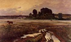 Eugeny Pozdnyakov. Pskov Land. Oil on canvas, 65х110. 1959