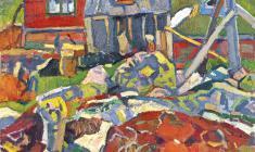 Nikolay Pozdneev. Red Stones.  Oil on canvas, 80х60. 1967