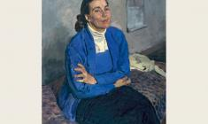 Alexander Pushnin. Portrait of the artist Tatyana Kopnina. Oil on canvas, 92х77. 1960