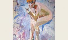 Lev Russov. Mirror. Oil on wood, 120х101. 1960