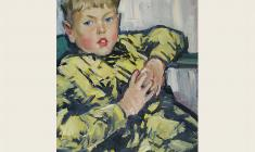 Lev Russov. Portrait of a Son. Oil on canvas, 71х50. 1965