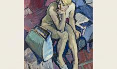 Lev Russov. Fresh Model. Oil on canvas, 130х100. 1961