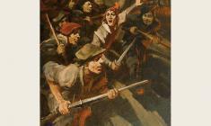 """Lev Russov. Phlandria. From the series """"Til Eulenspiegel"""". Oil on canvas,100х75. 1956"""