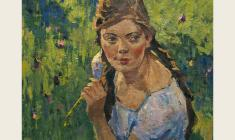 Lev Russov. Kira. Oil on canvas,30,5х36. 1958