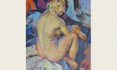 Lev Russov. Naked. Oil on canvas, 70х49. 1962