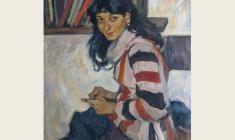 Lev Russov. Narine. Oil on canvas, 95,7х74,5. 1962