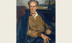 Lev Russov. Portrait of Eugeny Mravinsky. Oil on canvas, 95х73. 1957