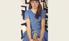Lev Russov. Portrait of Maria Korsukova. Oil on canvas, 120х60. 1962