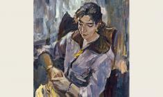 Lev Russov. Portrait of Natalia Orlova. Oil on canvas,100х75. 1956