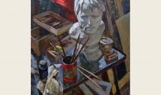 Lev Russov. Still-life with Seneca. Oil on cardboard, 96х76. 1963