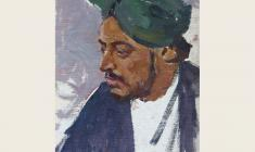 Lev Russov. Young Indian in Turban. Oil on cardboard, 49,5х35. 1957
