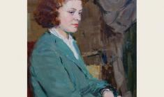 Н. Штейнмиллер. Портрет неизвестной. Карт.м., 62,5х49,5. 1953