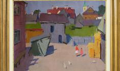 Sergei Osipov (1915 - 1985). Little Yard. Oil on canvas, 33,5х46,5. 1962. Price on request