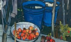 Elena Skuin.  Blue Buckets. Oil on canvas, 94х99. 1971