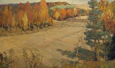 Г. Татаринов.  Поздняя осень.  Карт.м., 50х70.  1968