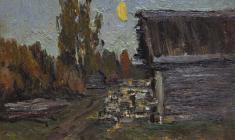Г. Татаринов.  Сумерки.  Карт.м.,16х21. 1960